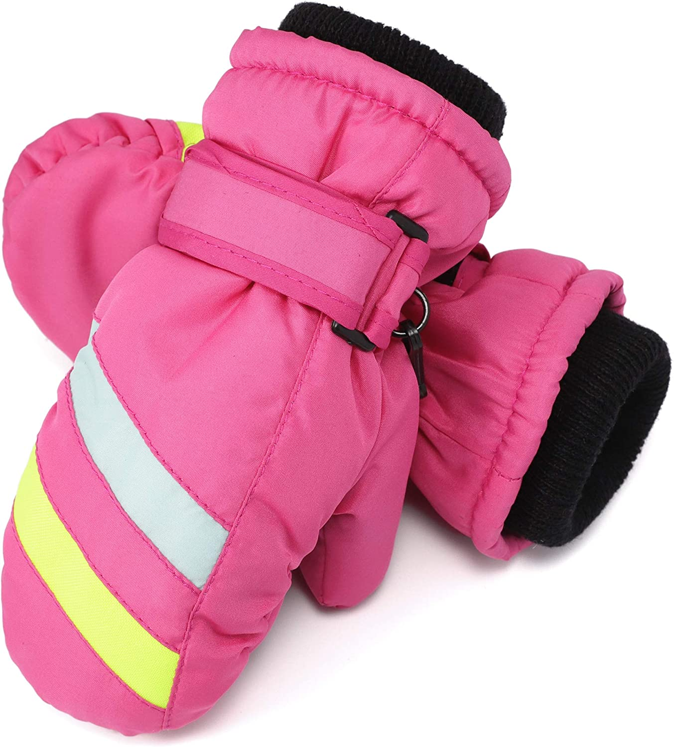 Flammi Kids Ski Mittens Fleece Lined Winter Snow Mittens Water-Resistant...