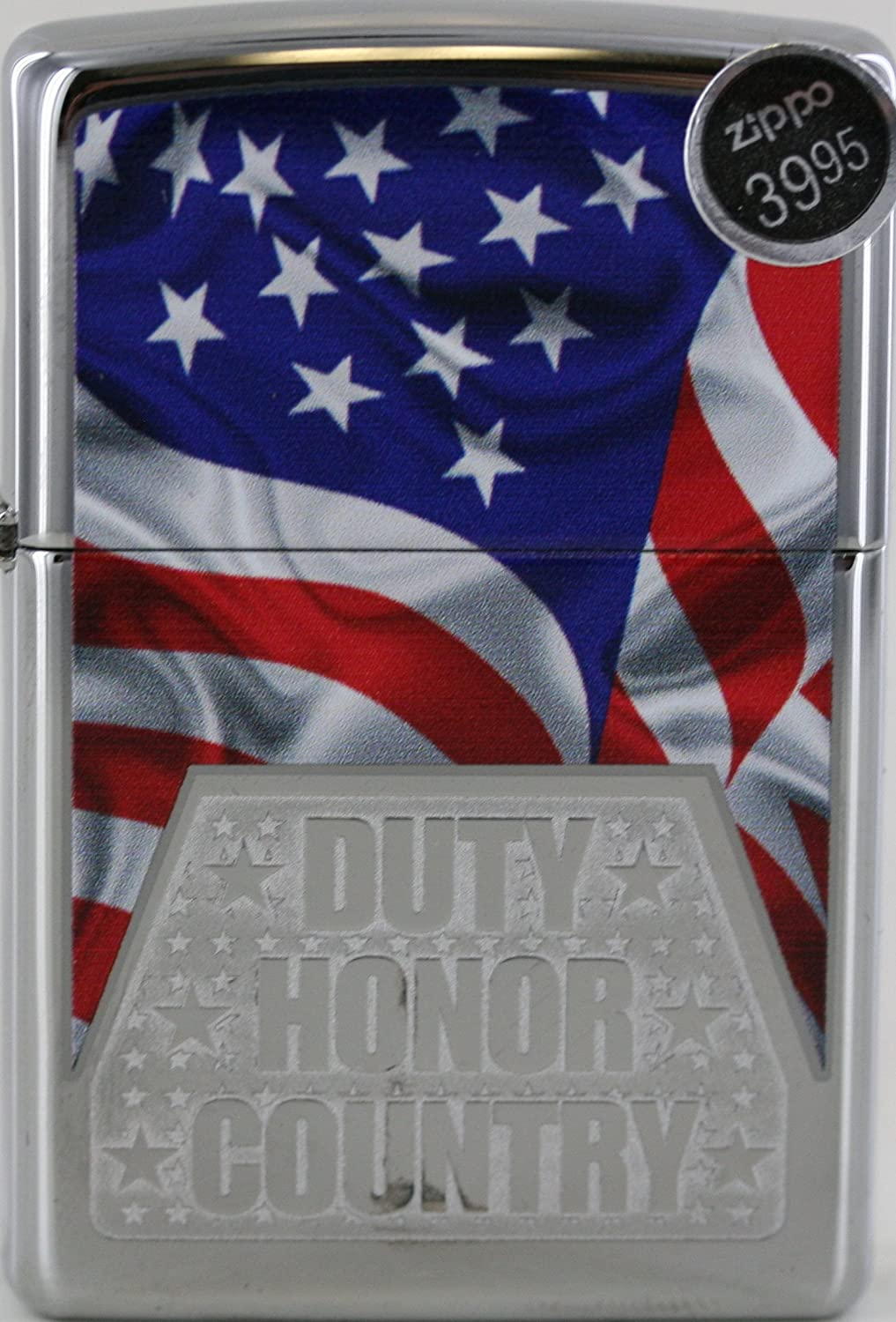 Zippo Duty Honor Country with American Flag Lighter Custom Made 819WpK8yJKL