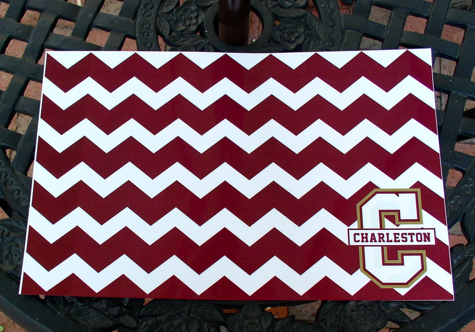 College of Charleston Chevron laminated place mats - Set of 4