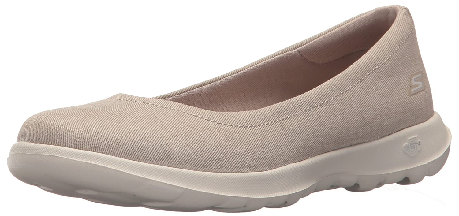 Skechers Damen Go Walk Lite-in Bloom Geschlossene Ballerinas  36.5 EU|Beige (Taupe)