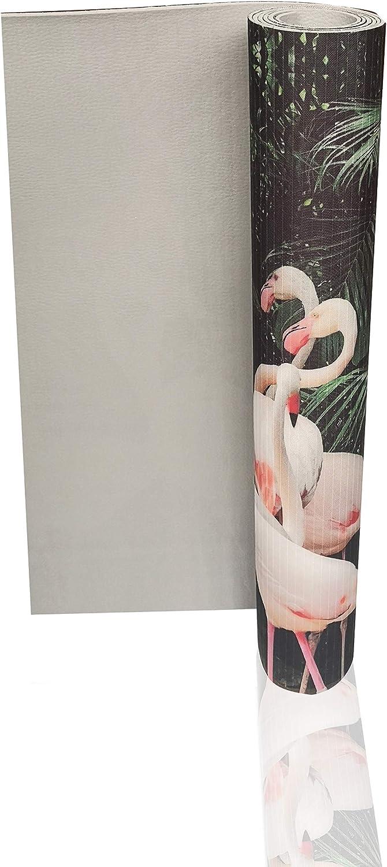 Comercial Candela Alfombra de Pasillo de Textil Resinado Antimanchas Lavable 52/_x/_100 CM Base PVC Antideslizante y Aislante Dise/ño Flamencos