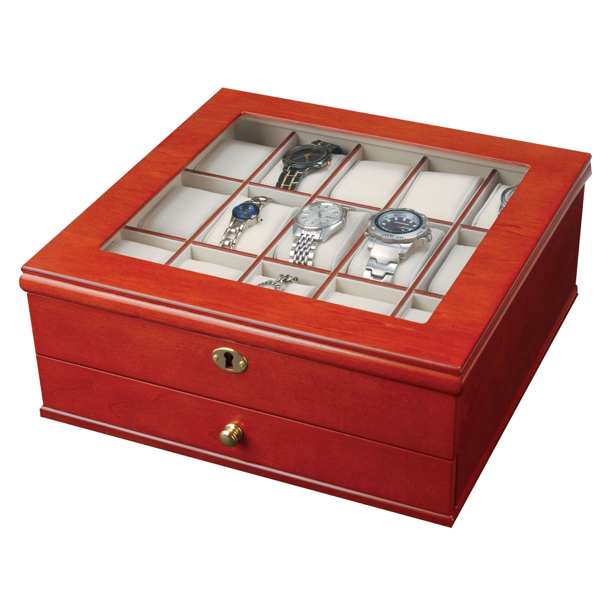 Mele & Co. 0067711 Chris Locking Wooden Watch Box by Mele & Co.
