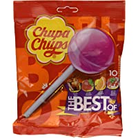Chupa Chups Lollipops The Best Of, Frutti Assortiti, 6 confezioni da 10 caramelle