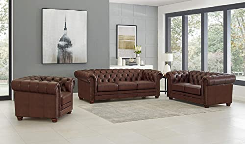 Hydeline Aliso 100 Leather Chesterfield Sofa