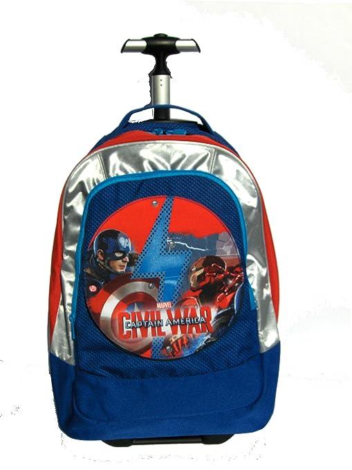 28aadeb915 Trolley Big Zaino SEVEN - 37x48x23 cm 33lt - Captain America Civil War Cap  - Cambiapattina