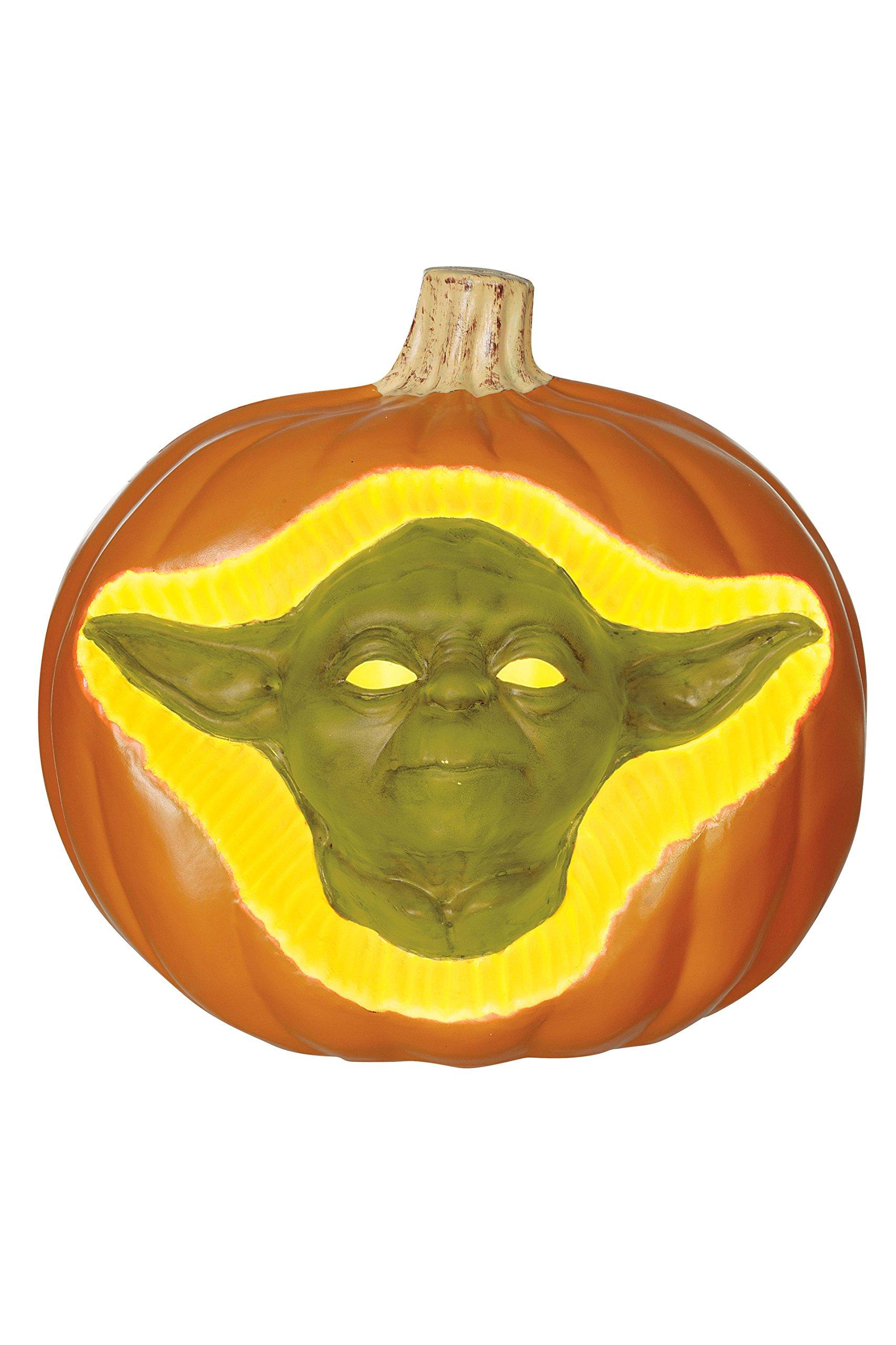 Star Wars Yoda 3D Light Up Pumpkin