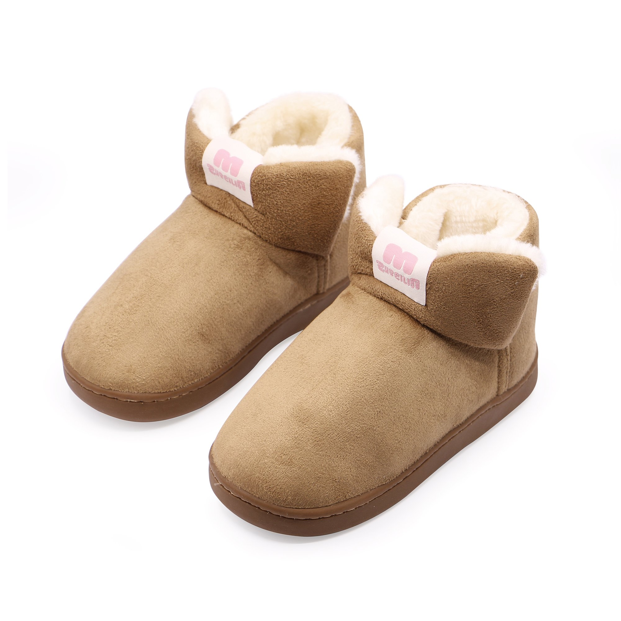 OSHOW Kids Slippers Cotton House Slippers Toddlers Warm Fluffy Indoor Outdoor Slippers Boots