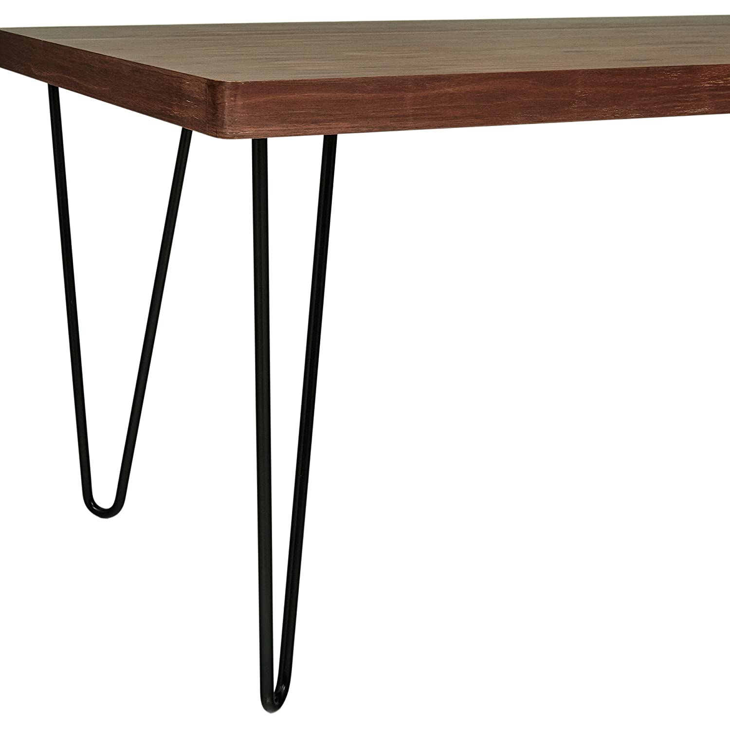 Amazon.com: Rivet Hairpin - Mesa consola de madera y metal ...