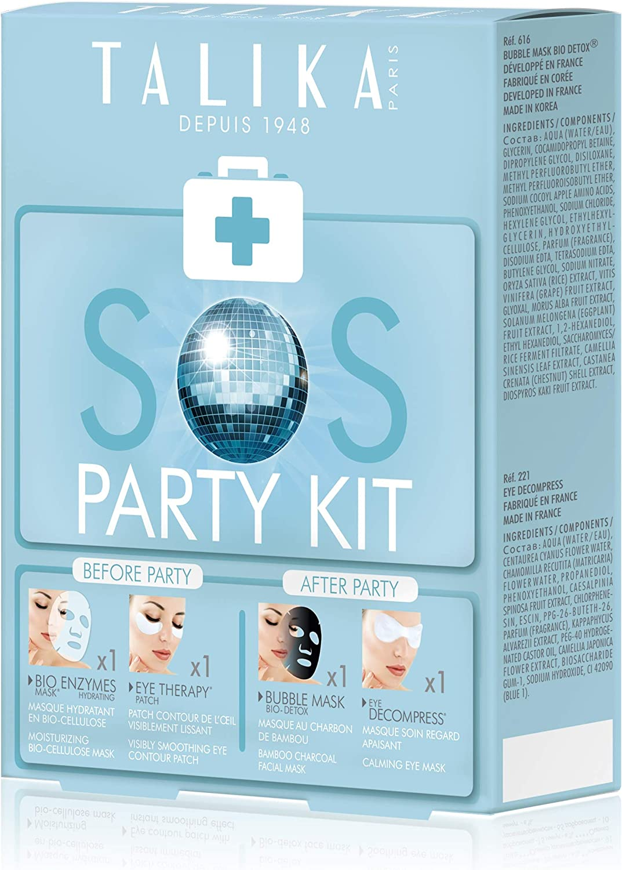 SOS Party Kit- Talika - 4 Máscaras: facial y ojos-Cuidados para el