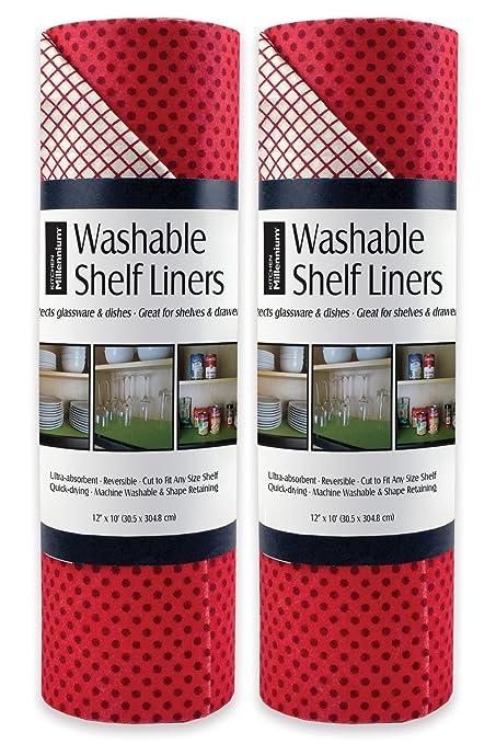 Amazon Com Dii Non Adhesive Cut To Fit Machine Washable Shelf Liner