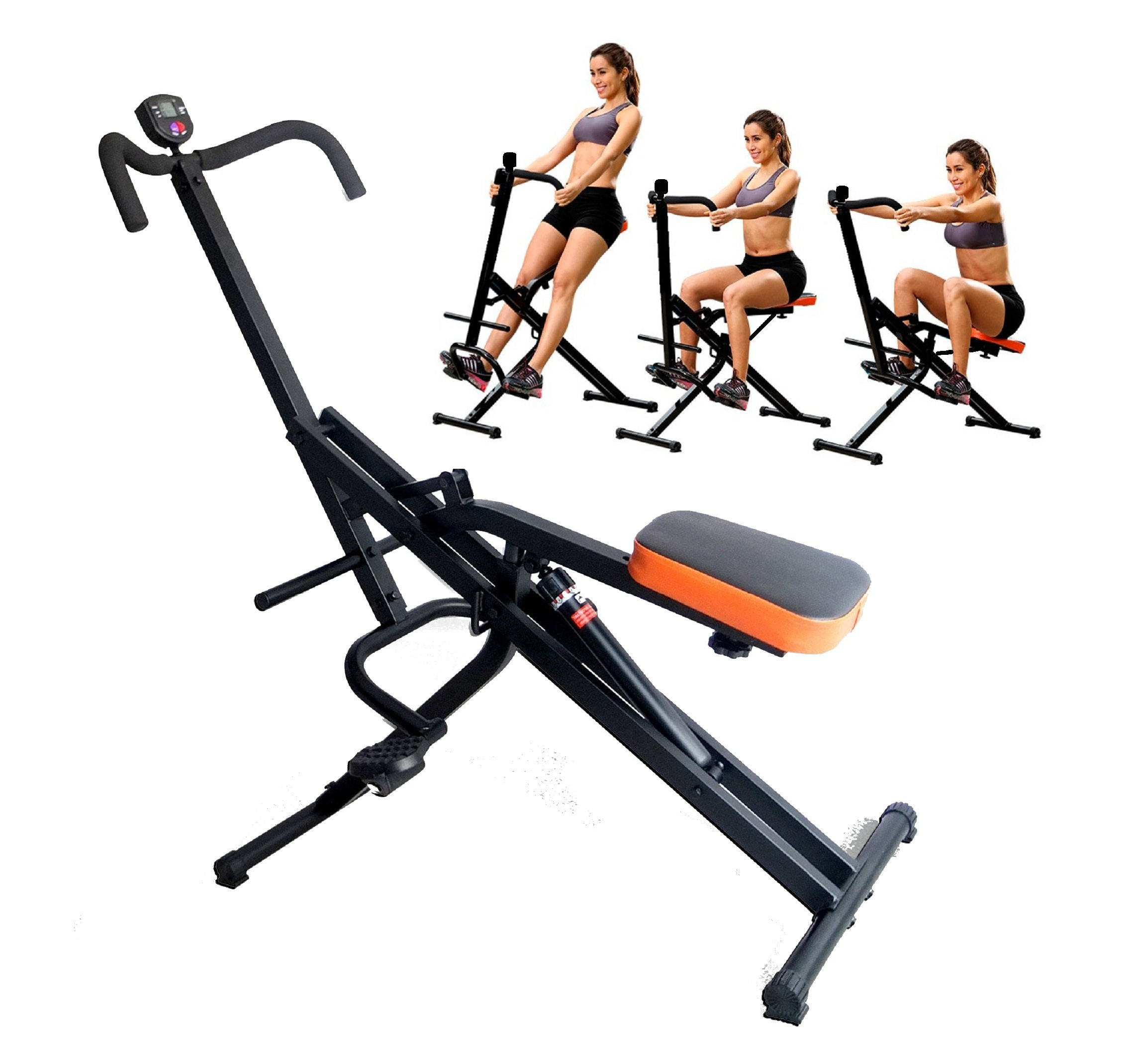TOTAL CRUNCH Full Ab Body Fitness Horse Riding with Monitor and 12 Hydraulic Resistance by Total Crunch TM (Image #1)