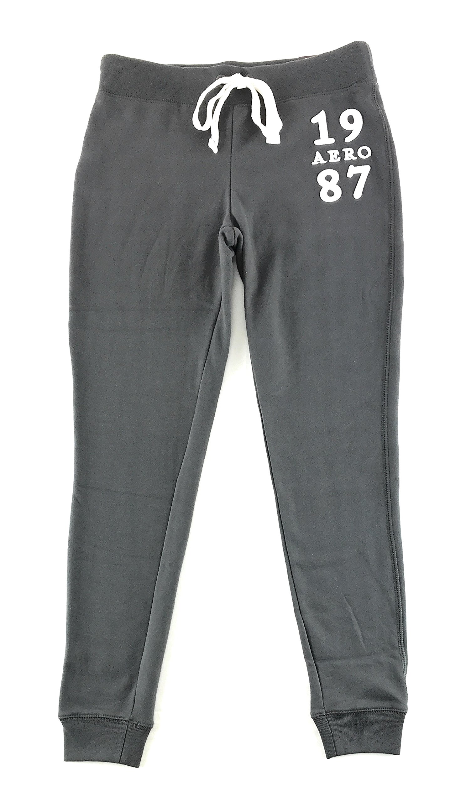 Aeropostale Womens Aero New York Jogger Sweatpants Dark Gray Large