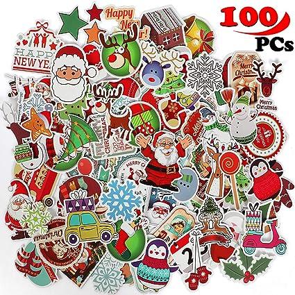 Qunan Christmas Decorations 100 Pcs Graffiti Vinyl Stickers For Bicycle Luggage Skateboard Laptop Envelopes Crafts Card