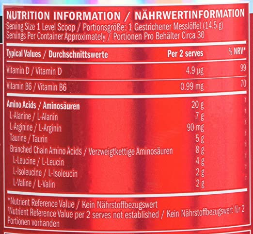 BSN Amino X Muscle Support Powder Supplement with Vitamin D, Vitamin A &  Amino Acids  BCAA powder by BSN - Green Apple, 30 Servings, 435g