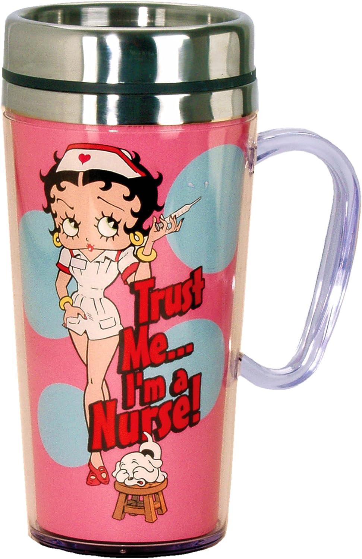 COFFEE MUG BETTY BOOP NURSE NIGHT SHIFT DRINK