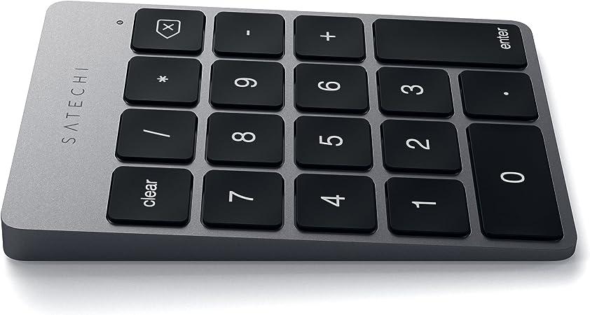 Satechi Keypad Delgado Portátil de Aluminio Bluetooth con 18-Teclas Extensión de Teclado para Entradas de Datos en Excel y Numbers, Gris Espacial