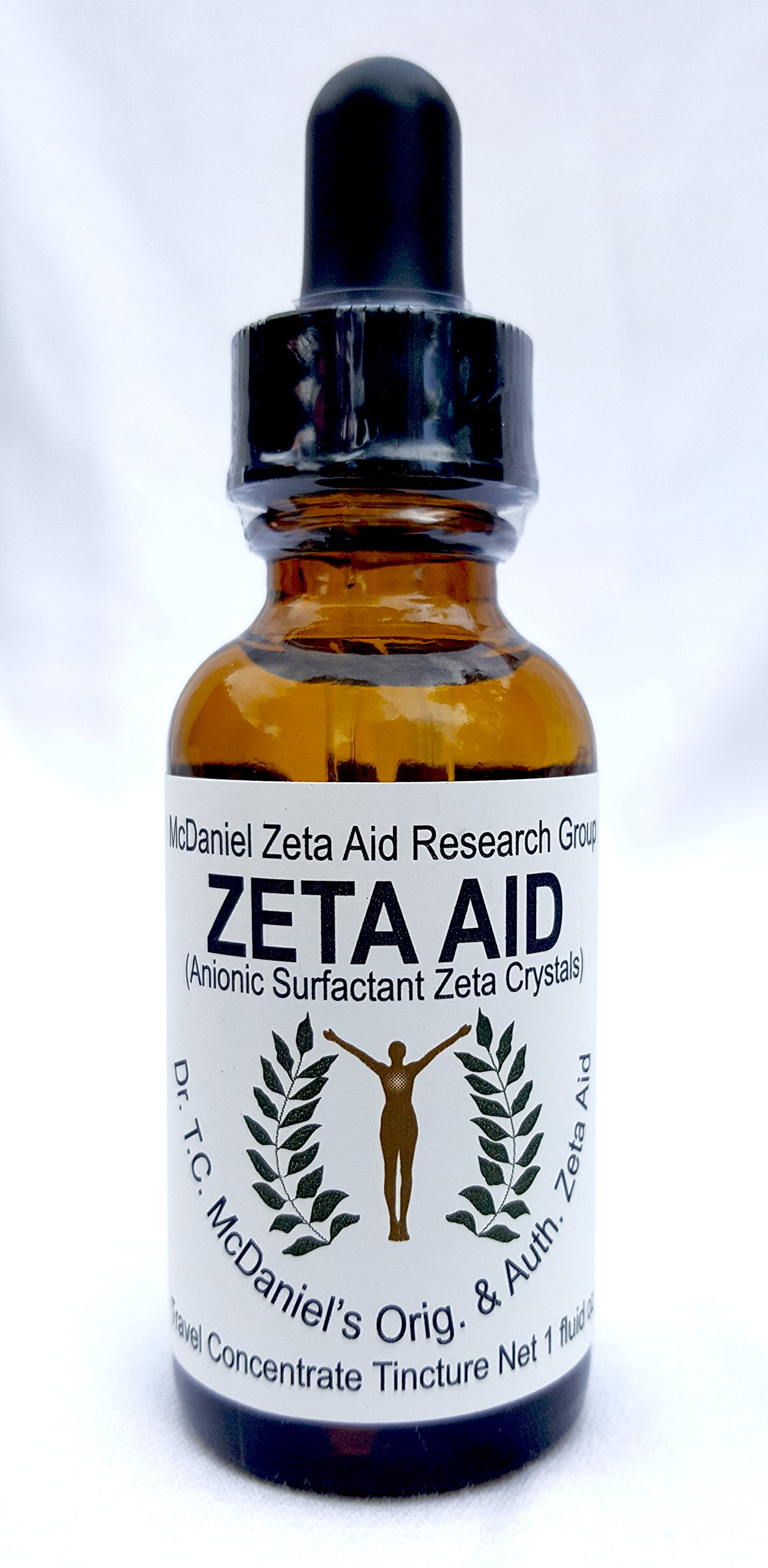 Zeta Aid Tincture - Dr. TC McDaniel's Original And Authorized Zeta Aid - 1 oz Travel Bottle