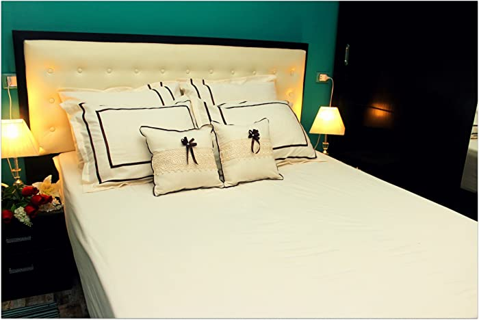 Egyptian Luxury Bed Sheets, Corn Silk White Bed Sheets, Extra Soft And  Comfortable,