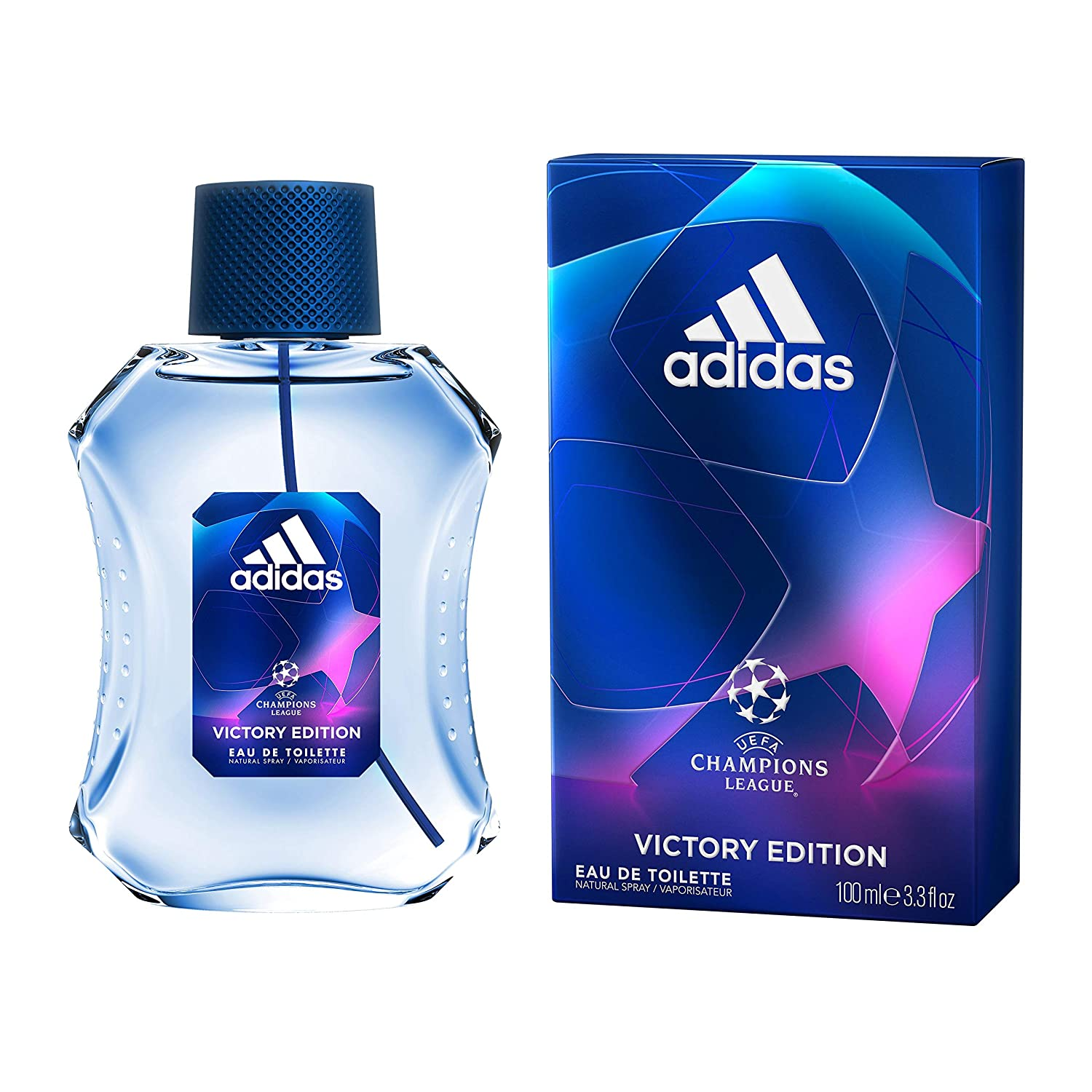 muestra Azul Desbordamiento  Amazon.com : Adidas UEFA Champions League Men 3.4 oz EDT Spray (Victory  Edition) : Beauty