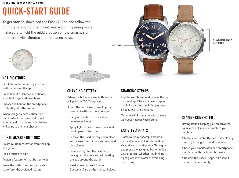 Fossil Hybrid Smartwatch Q Scarlette Two Tone Perfect Boyfriend Es4093 Blue Navy Stainless Steel Ftw5017 Watches