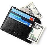 Lackingone Portafoglio Uomo di Classe in Pelle Nera di Qualità con Protezione RFID/NFC 8 Tasche per Carte di Credito e Portamonete Pelle Wallet Classico e Slim