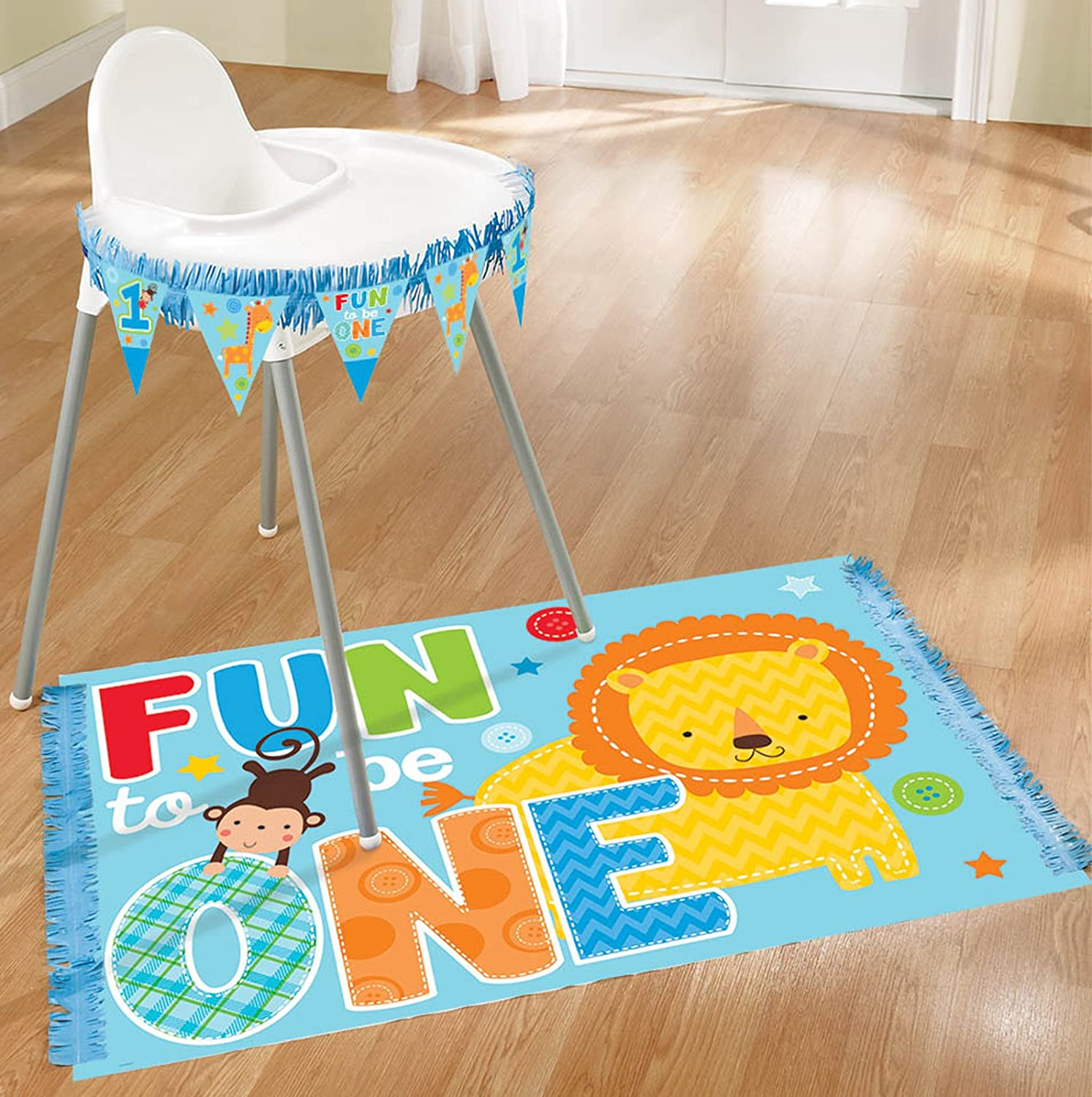 Wild At One Boys 1st Birthday High Chair Decorating Kit