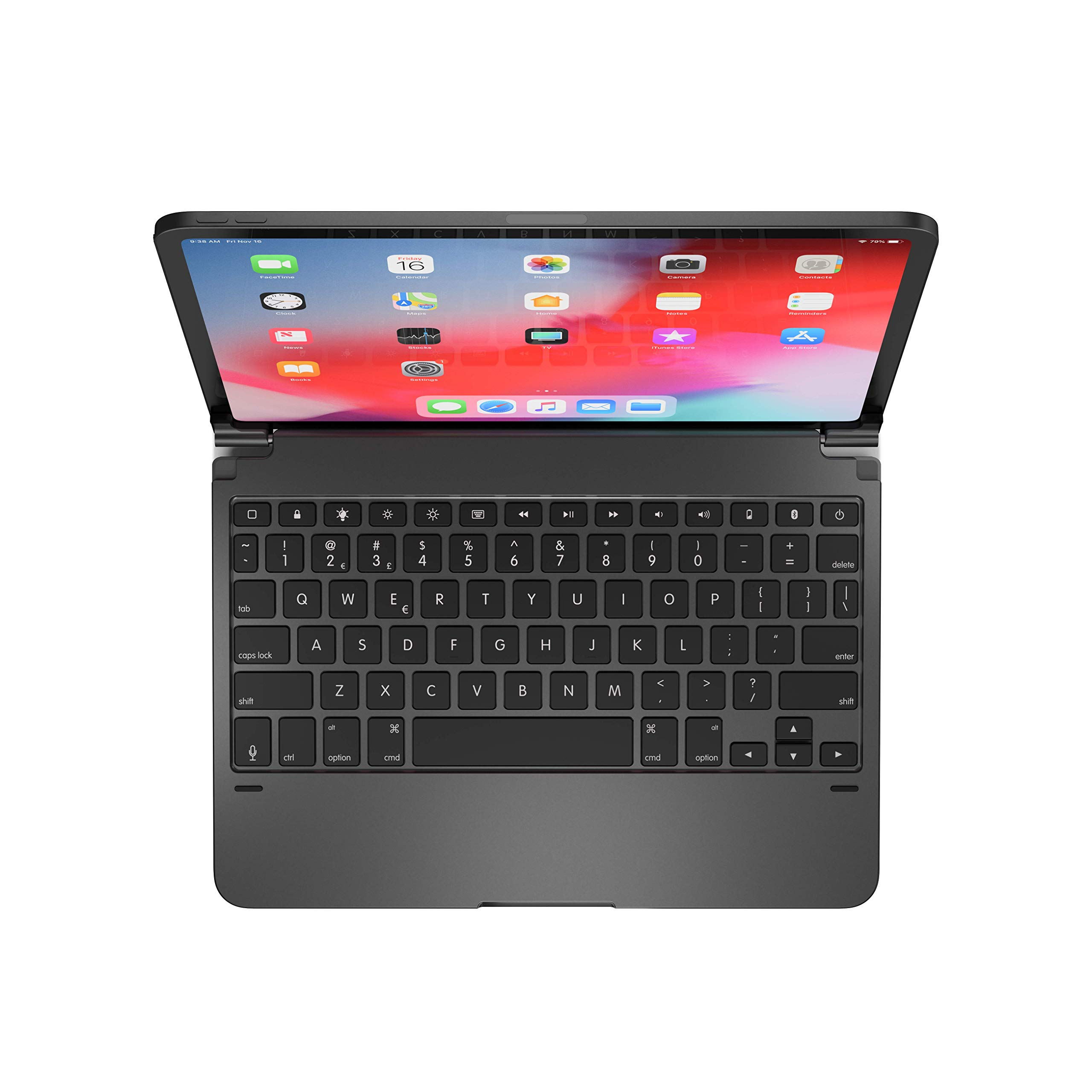 Brydge Pro 11.0 Keyboard for 11.0-inch iPad Pro 3rd Generation 2018 Model | Aluminum Wireless Bluetooth Keyboard with Backlit Keys | Long Battery Life | (Space Gray) by Brydge (Image #1)