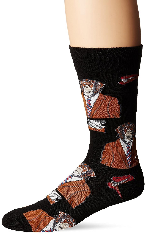 Socksmith Men's Monkey Bizz Novelty Sock, Black MNC362-BLACK