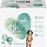 Pampers Pure Protection Disposable Diapers, Size 5, 44 Count