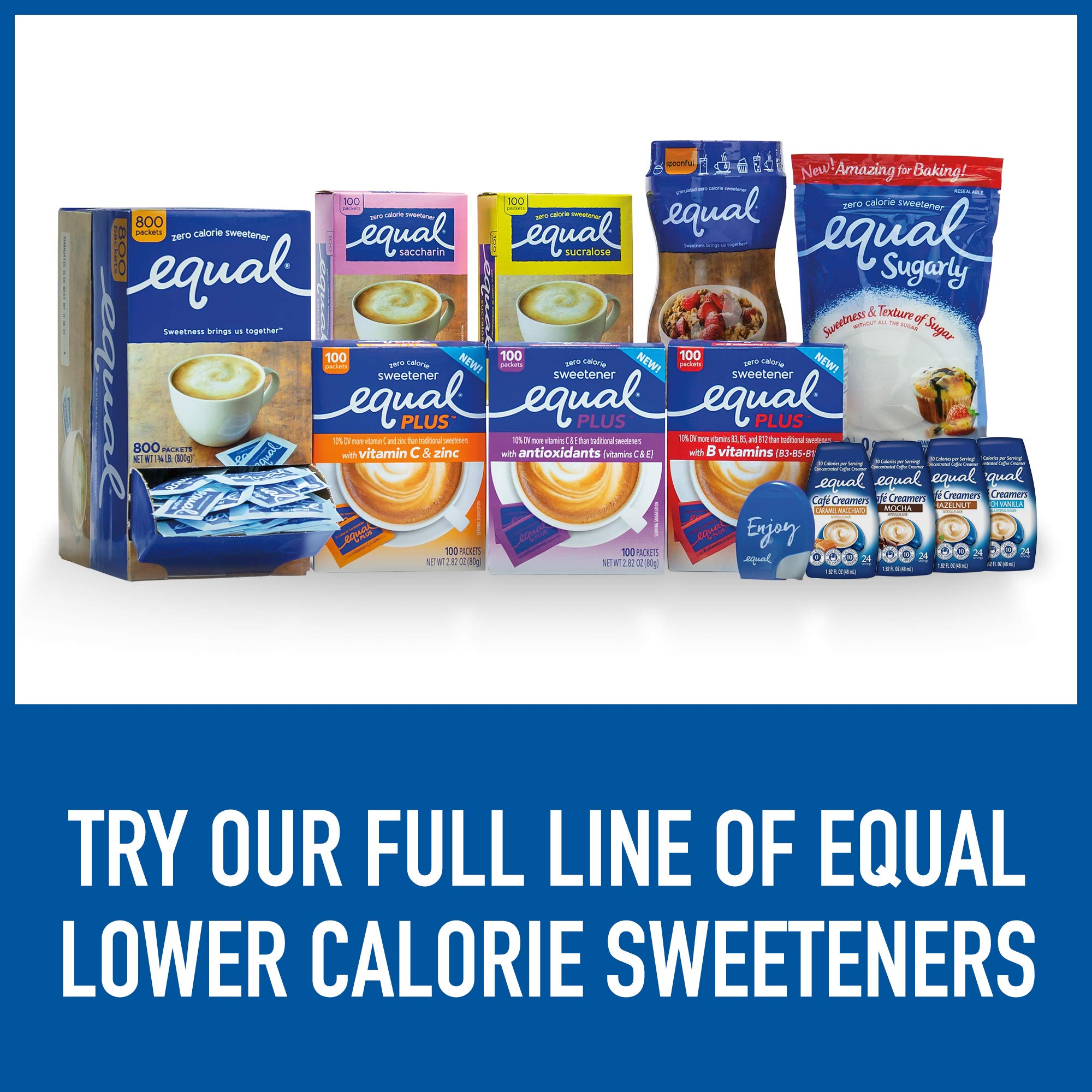 EQUAL 0 Calorie Sweetener, Sugar Substitute, Zero Calorie Sugar Alternative Sweetener Packets, Sugar Alternative, 230 Count (Pack of 3) by Equal (Image #10)