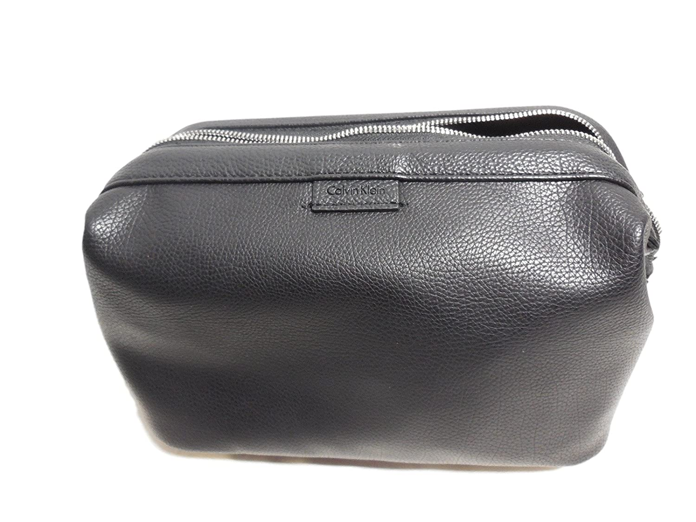 68409dd851d93 Amazon.com  Calvin Klein DOBB KIT Travel Cosmetic Toiletry Bag Case - Black  ( 74314MA)  Clothing