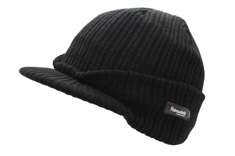 c7eadbf4edb Thinsulate Insulation Men s Peak Beanie Hat  Amazon.co.uk  Kitchen   Home