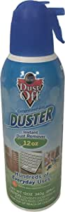 Dust-Off Compressed Gas Duster Single, 12 oz. Can (12oz)