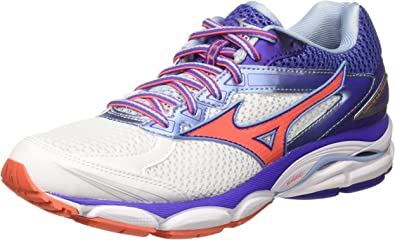 Mizuno Scarpa Wave Ultima Wos, Zapatillas de Entrenamiento para Mujer, Multicolor (White/fierycoral/Liberty), 42 EU: Amazon.es: Zapatos y complementos