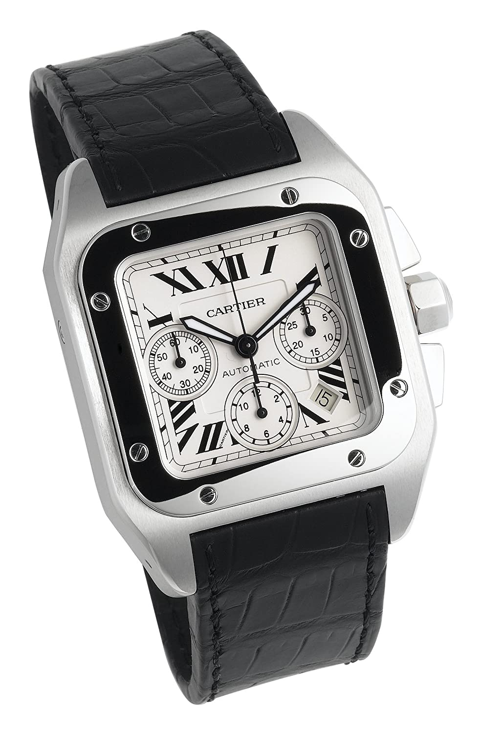 watch men steel watches cartier santos s automatic large