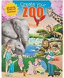 Depesche 7896 - Juego de pegatinas (DE-7896) - Create your zoo. Libro para colorear + pegatinas
