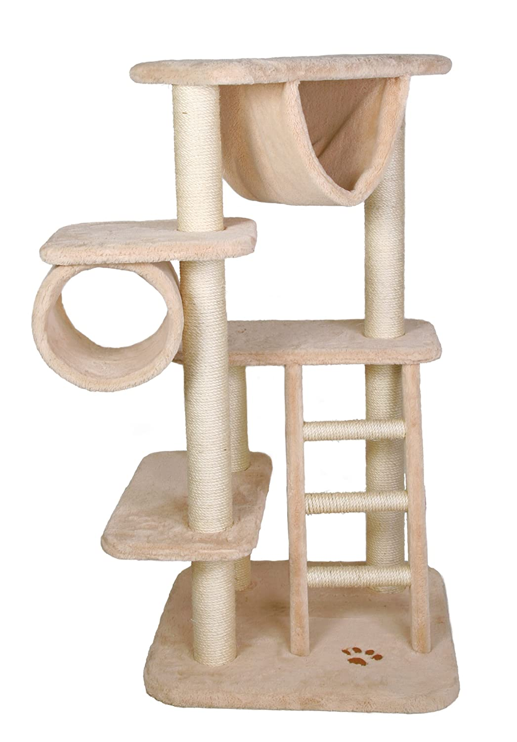 Trixie 43491 Mecina Cat Playground, Beige Brown Paw