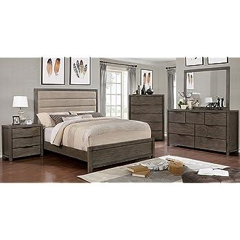 Modern leon 4 piece bedroom set california - King size bedroom set with mirror headboard ...