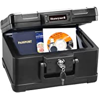 Honeywell Safes & Door Locks – 30 Minute Fire Safe Box Chest with Carry Handle, Small, 1101