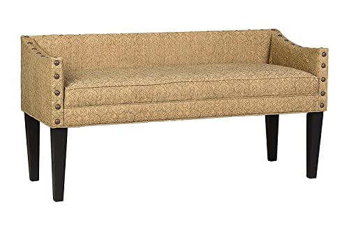 Leffler Home Whitney Transitional Long Upholstered Bench, Brown