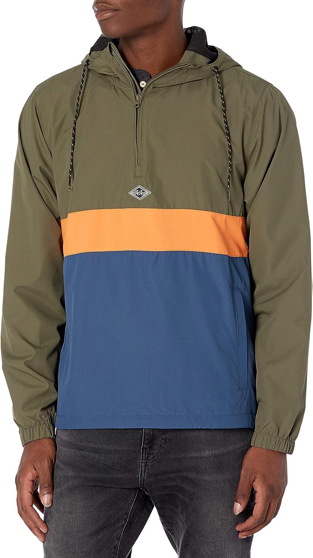 Billabong mens Wind Swell Pullover Anorak Windbreaker Jacket: Clothing