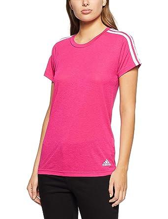 adidas Damen Essentials 3 Stripes T Shirt Bekleidung
