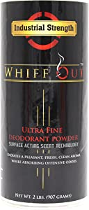 Whiff Out Rustic - 2lb Deodorant Powder & Ashtray Deodorizer Designed to Eliminate Ashtray and Smoking Receptacle Odors Caused by Cigarettes & Cigars | Rustic Scent