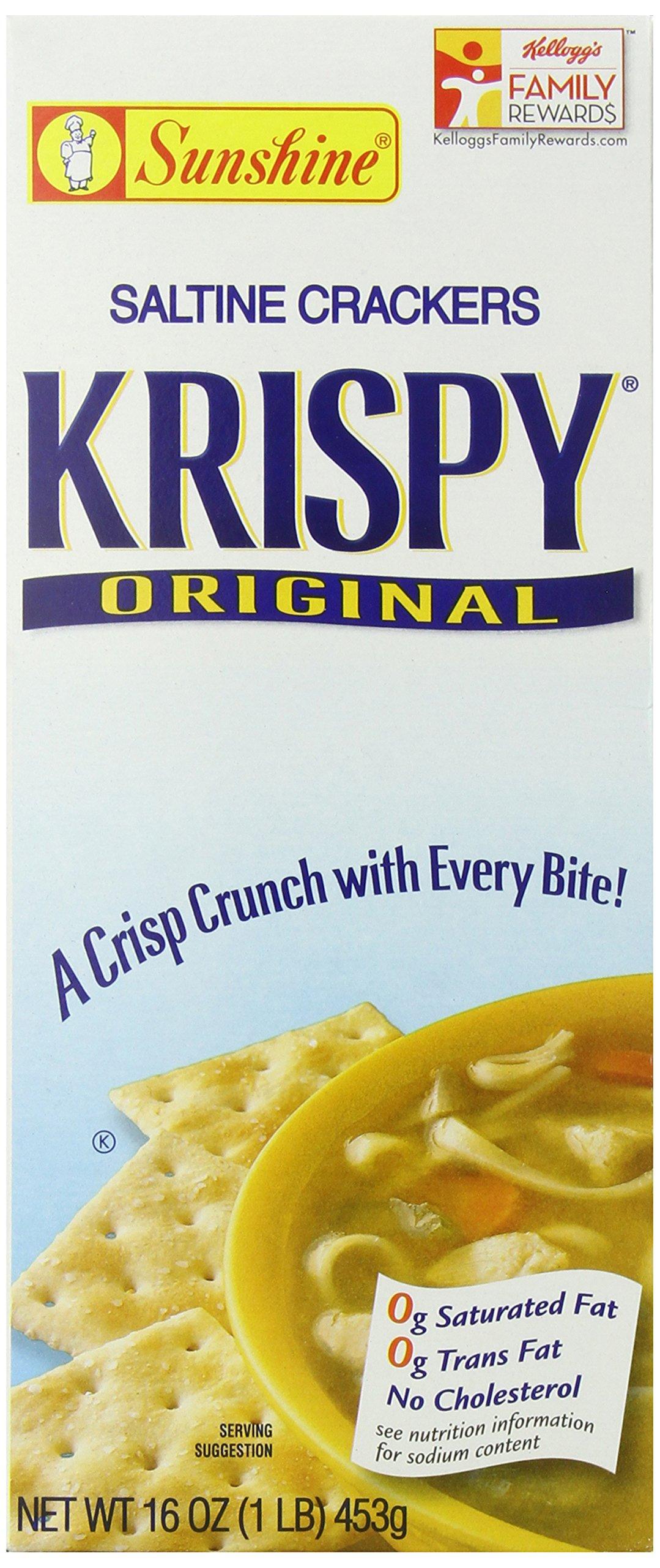 Krispy, Saltine Crackers, Original, 16 oz(Pack of 12) by Krispy