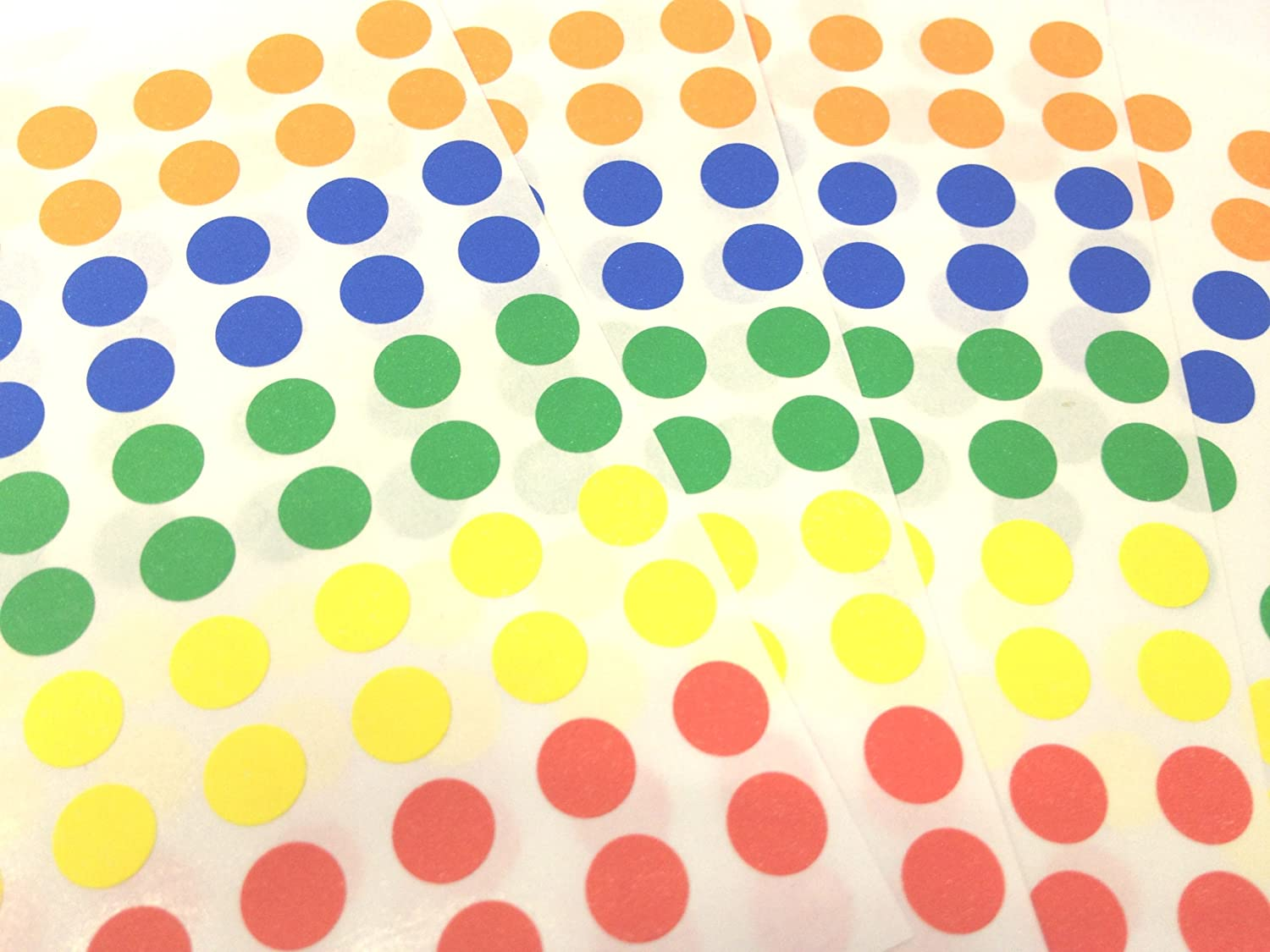 700 Sticky Coloured Dots 8mm ... Easy Peel Self Adhesive Colour Coding