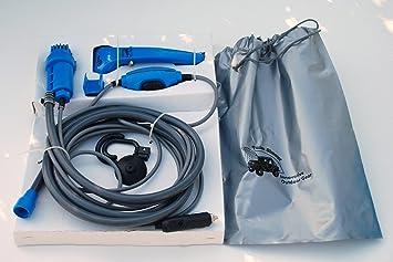 Unlimited Quantity - Ducha y bomba de agua portátil para camping (12 V, enchufe