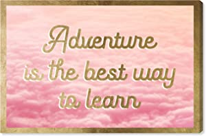 The Oliver Gal Artist Co. Typography and Quotes Wall Art Canvas Prints 'Adventure is The Best Way' Home Décor, 24