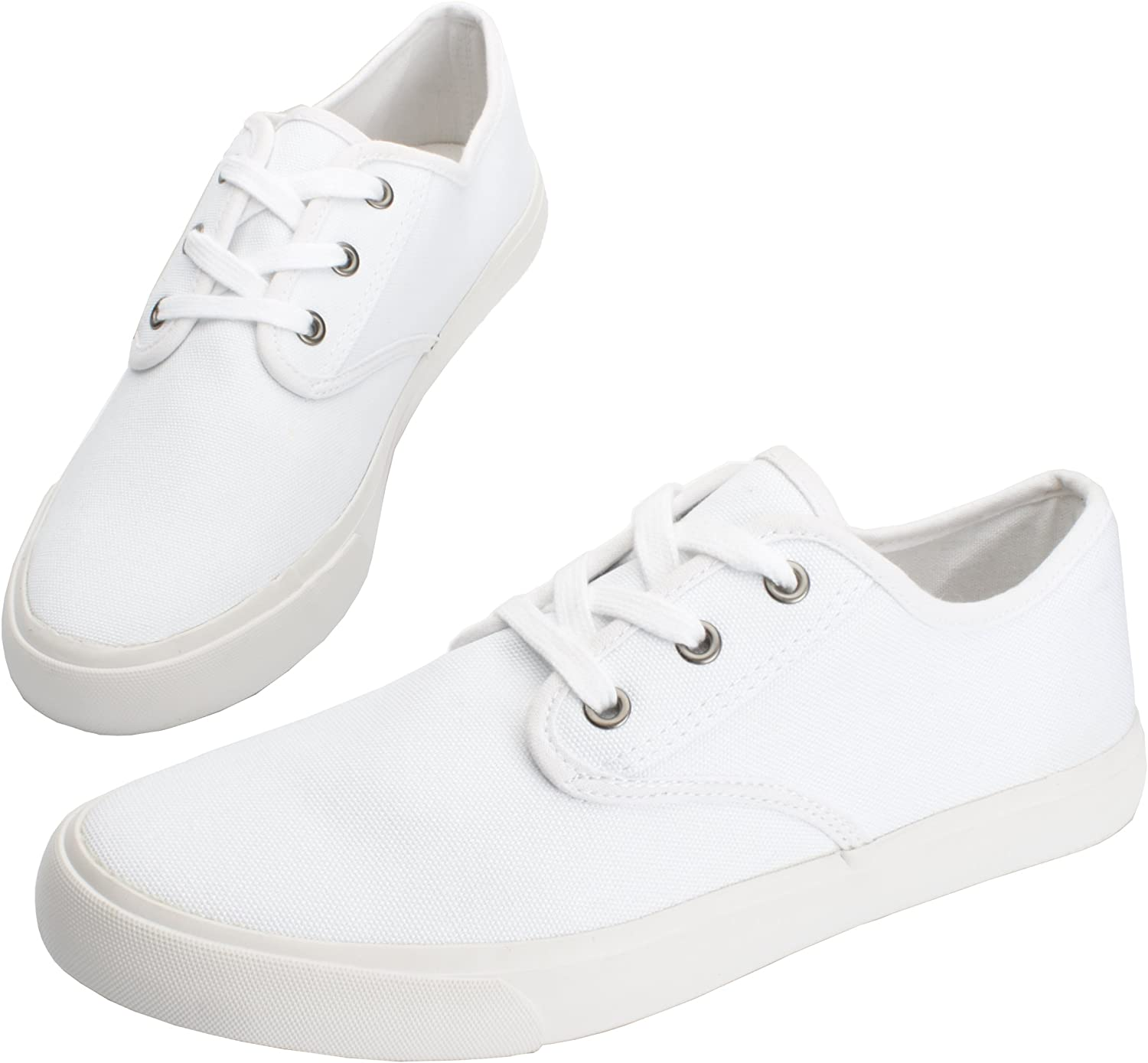 Fear0 Mens Everyday Classic White Casual Sneakers Walking Tennis Shoes