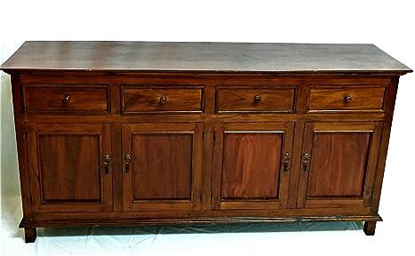 Credenza Avorio Moderna : Buffet credenza ingresso mobile vintage in legno teak arredamento