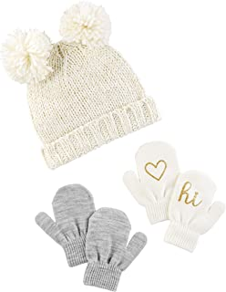 ... outlet online 1aef6 b5d8a Simple Joys by Carters Baby and Toddler Girls  Hat and Mitten Set ... cc00083587d3